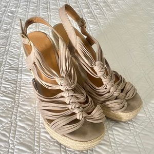 Taupe Charlotte Russe Wedge Sandals